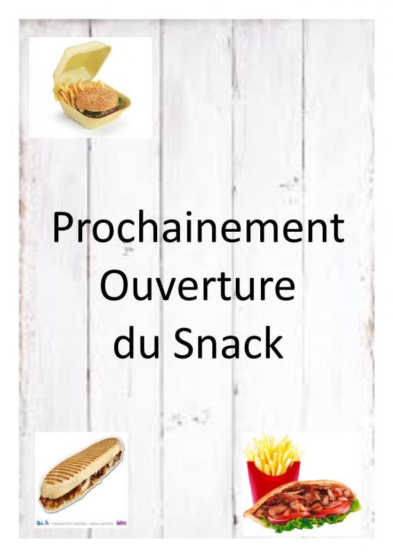 Affiche ouverture snack